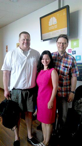 Jana, Pasi and I at the Malaga University, May 2015