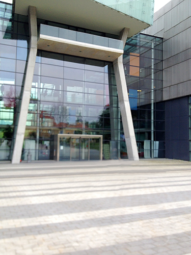The Main Entrance of Salzburg University of Applied Sciences, May 2014