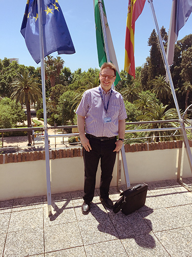 On the roof of the Malaga University, May 2015