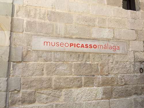 In front of Picasso Museum in Malaga, May 2015