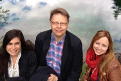 Together with Melike and Anu, Salzburg May 2014